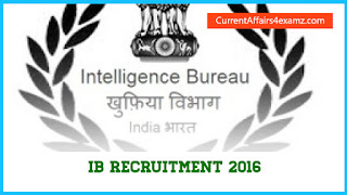 IB Recruitment 2016