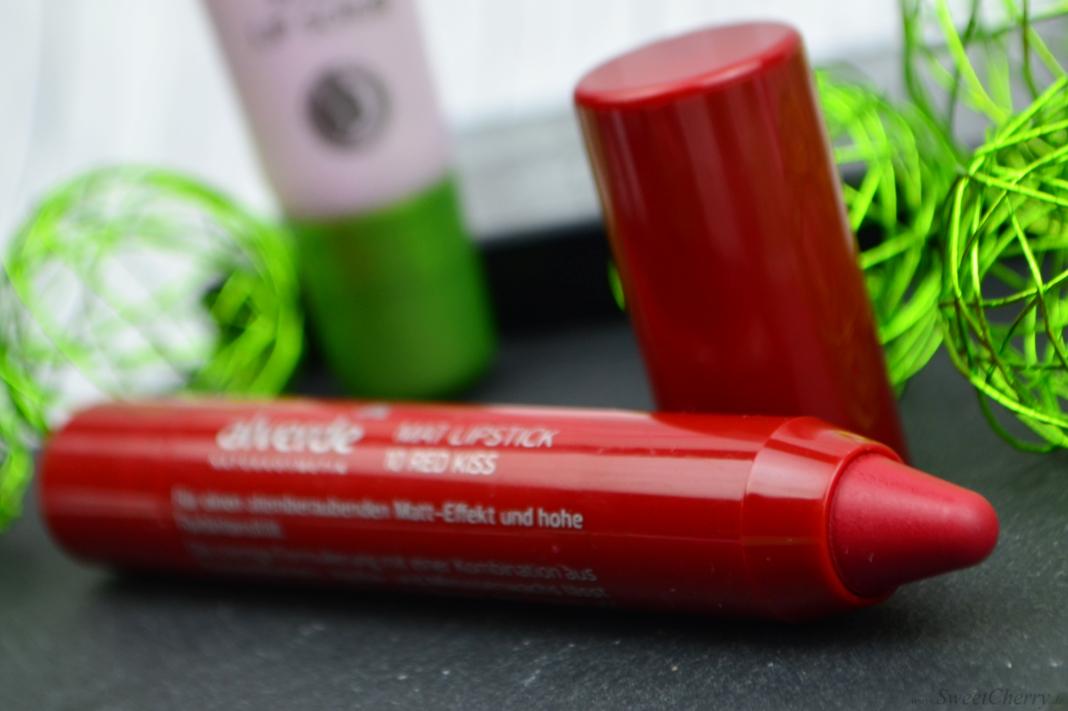 Alverde Sortiment 2017 - Mat Lipstick Red Kiss