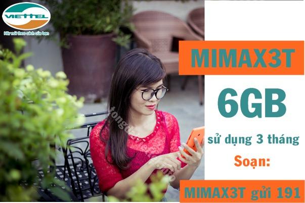 Cách đăng ký gói cước Mimax3T của Viettel
