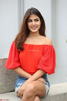 Rhea Chakraborty in Red Crop Top and Denim Shorts Spicy Pics ~  Exclusive 320.JPG