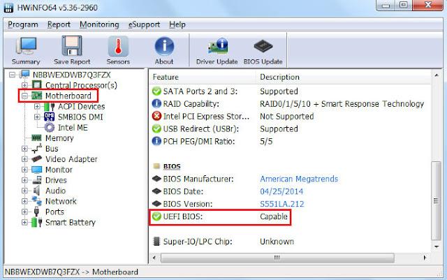 Cách xem máy tính dùng UEFI hay BIOS, MBR hay GPT
