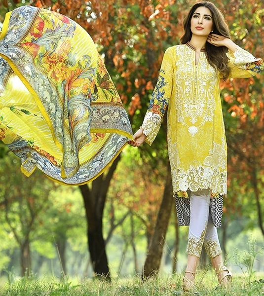 Rani Emaan Eid Lawn Collection 2016-17 by Sara Textile