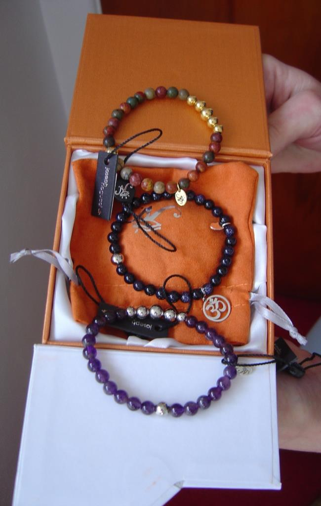 Joseph Nogucci bracelets in the box