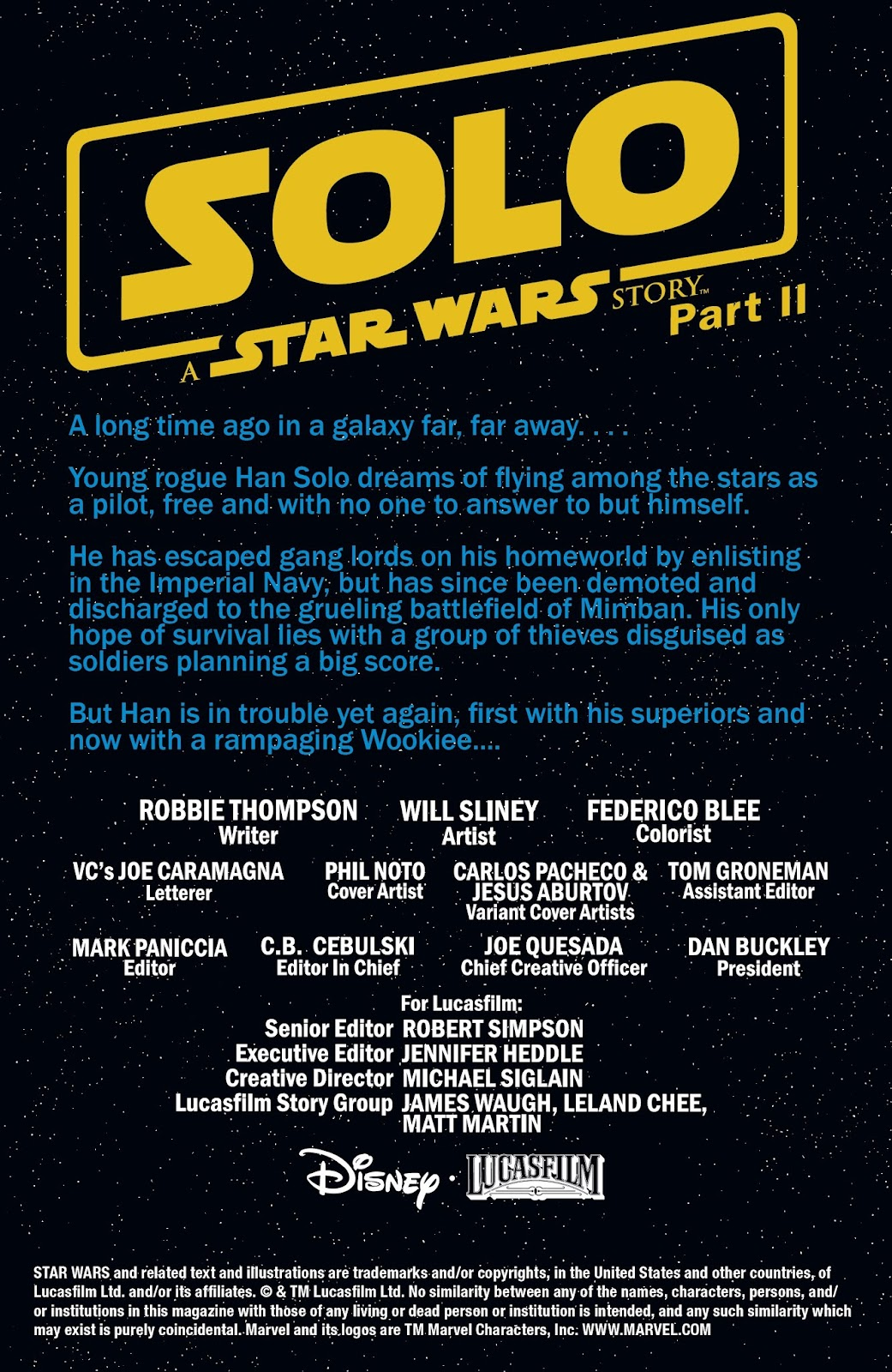 Read online Solo: A Star Wars Story Adaptation comic -  Issue #2 - 2