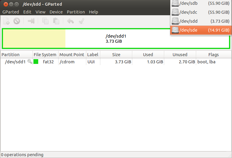 Install Ubuntu on USB drive with large persistent storage