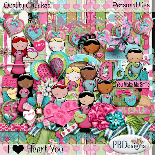 PBDesigns has a new kit called IHeartU