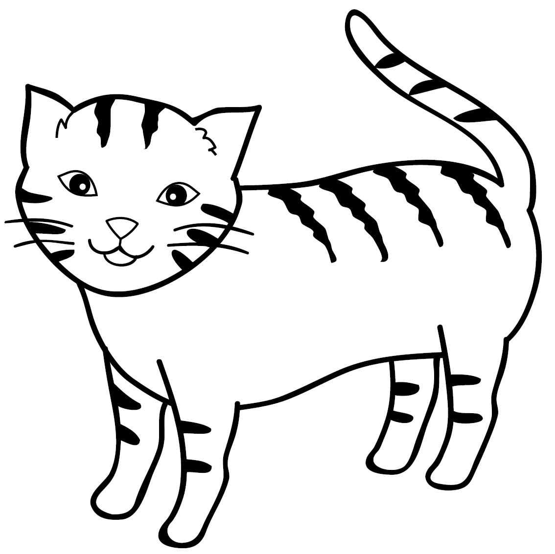 Gambar Mewarnai Gambar Kucing Untuk Anak