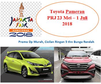 Promo Toyota Pameran PRJ 2018