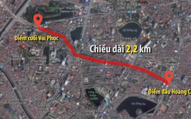 Tuyến đường Hoàng Cầu - Voi Phục