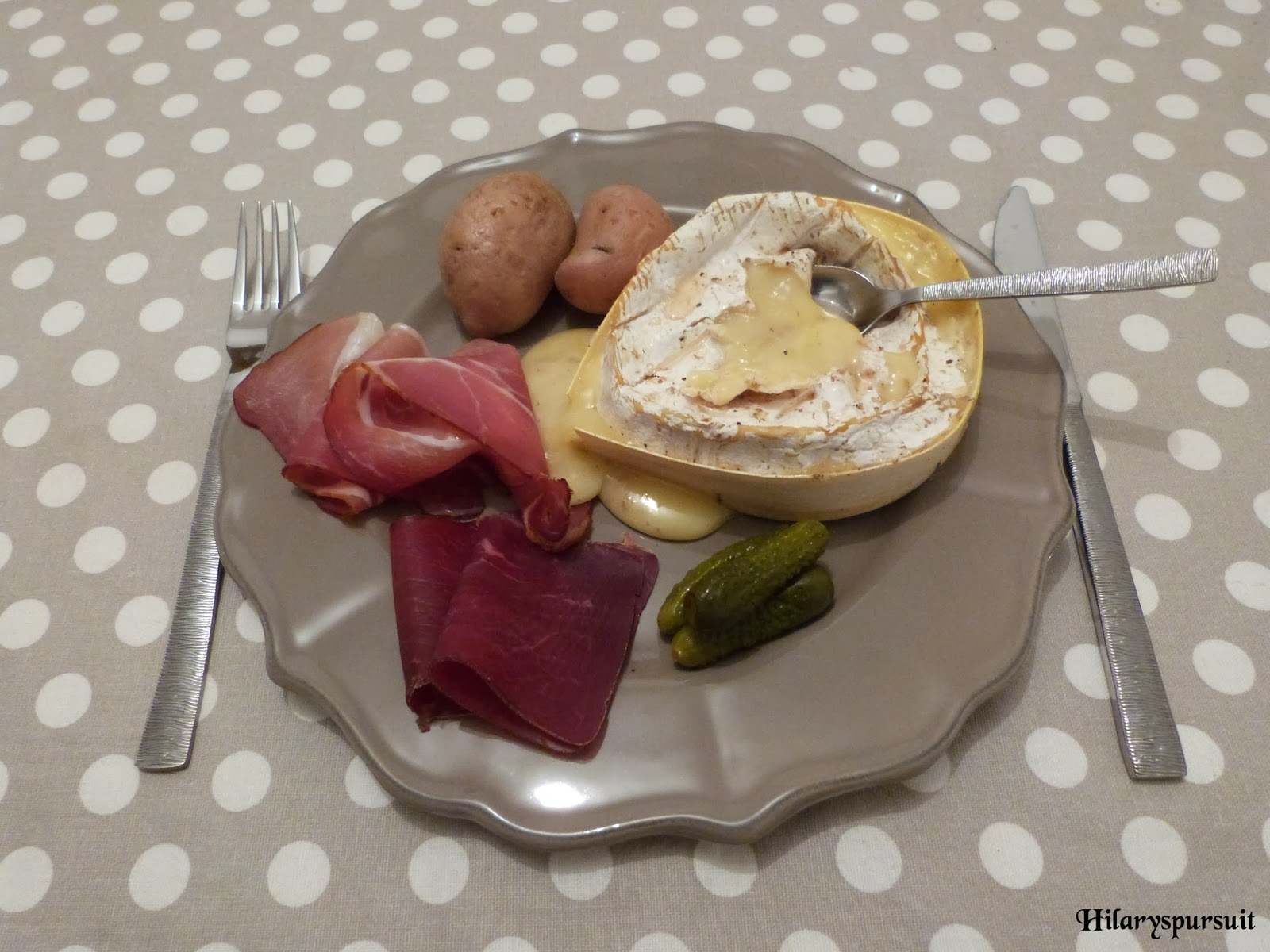 Camembert rôti façon raclette