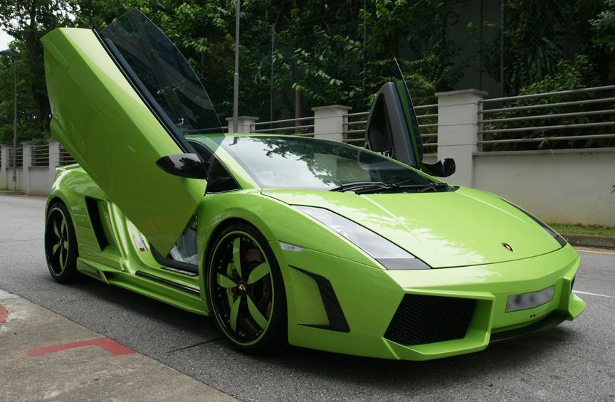 Gini Car Wallpaper Lamborghini Gallardo Green Cars Hd Wallpapers