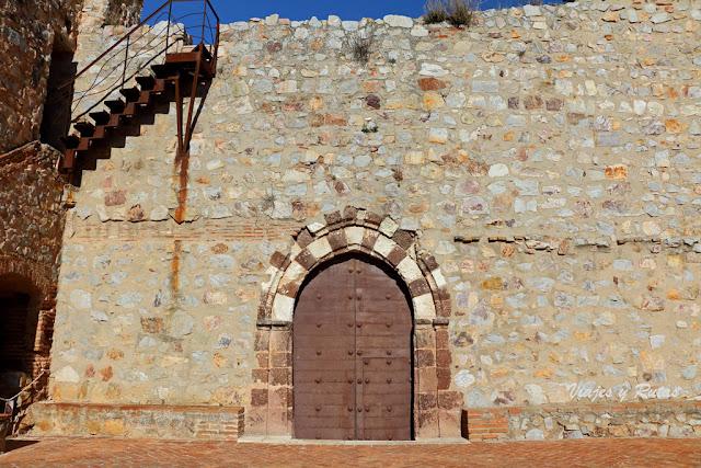 Portada de la iglesia abacial del Monasterio de Calatrava la Nueva