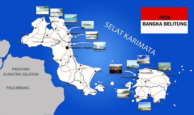 Gambar Peta Bangka Belitung