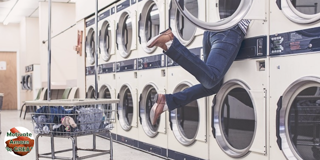 "Man Washing Machine Resourcefulness, header image of the article: ""7 Tips To Manage Your Problems Like A Pro"""