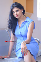 Telugu Actress Mounika UHD Stills in Blue Short Dress at Tik Tak Telugu Movie Audio Launch .COM 0132.JPG