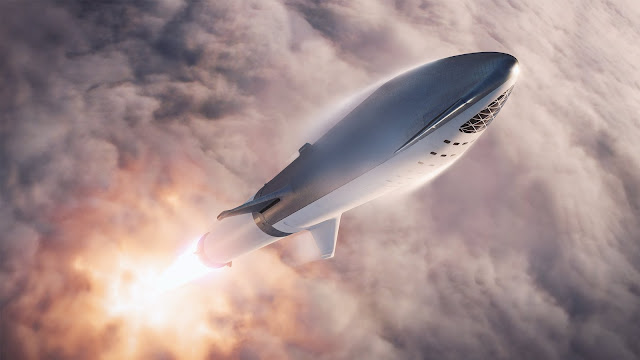 SpaceX Big Falcon Rocket (BFR) v2018 launch
