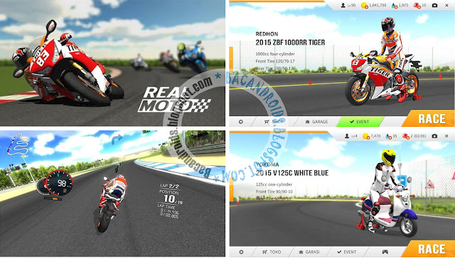 Game Real Moto Apk Mod Unlimited Money Apk+Data Versi 1.0.122
