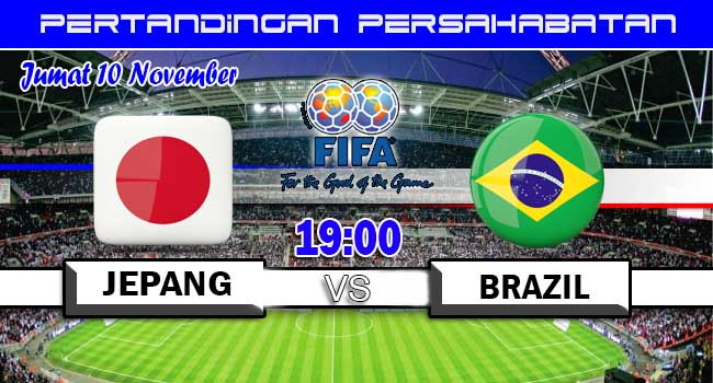 live streaming jepang vs brazil 10 november 2017