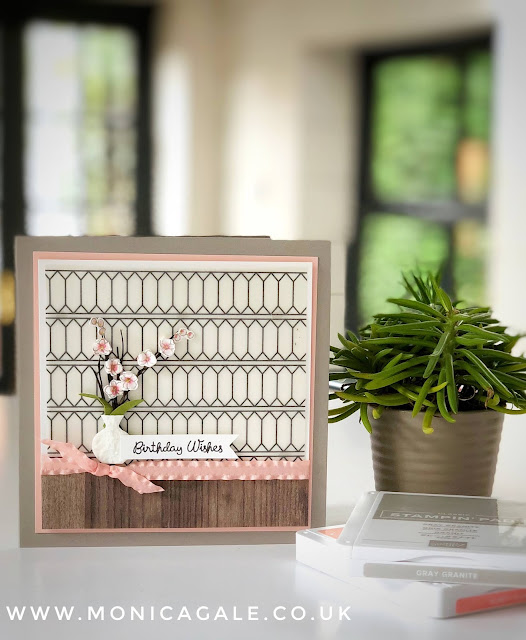 Stampin Up Varied Vases Card by Monica Gale #varied vases #stampinup #gracefulglassvellum