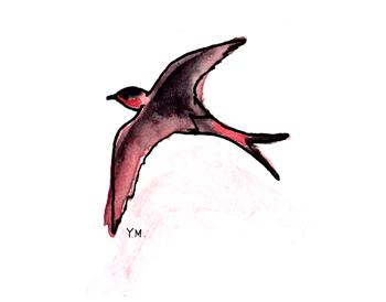 swallow by Yukié Matsushita