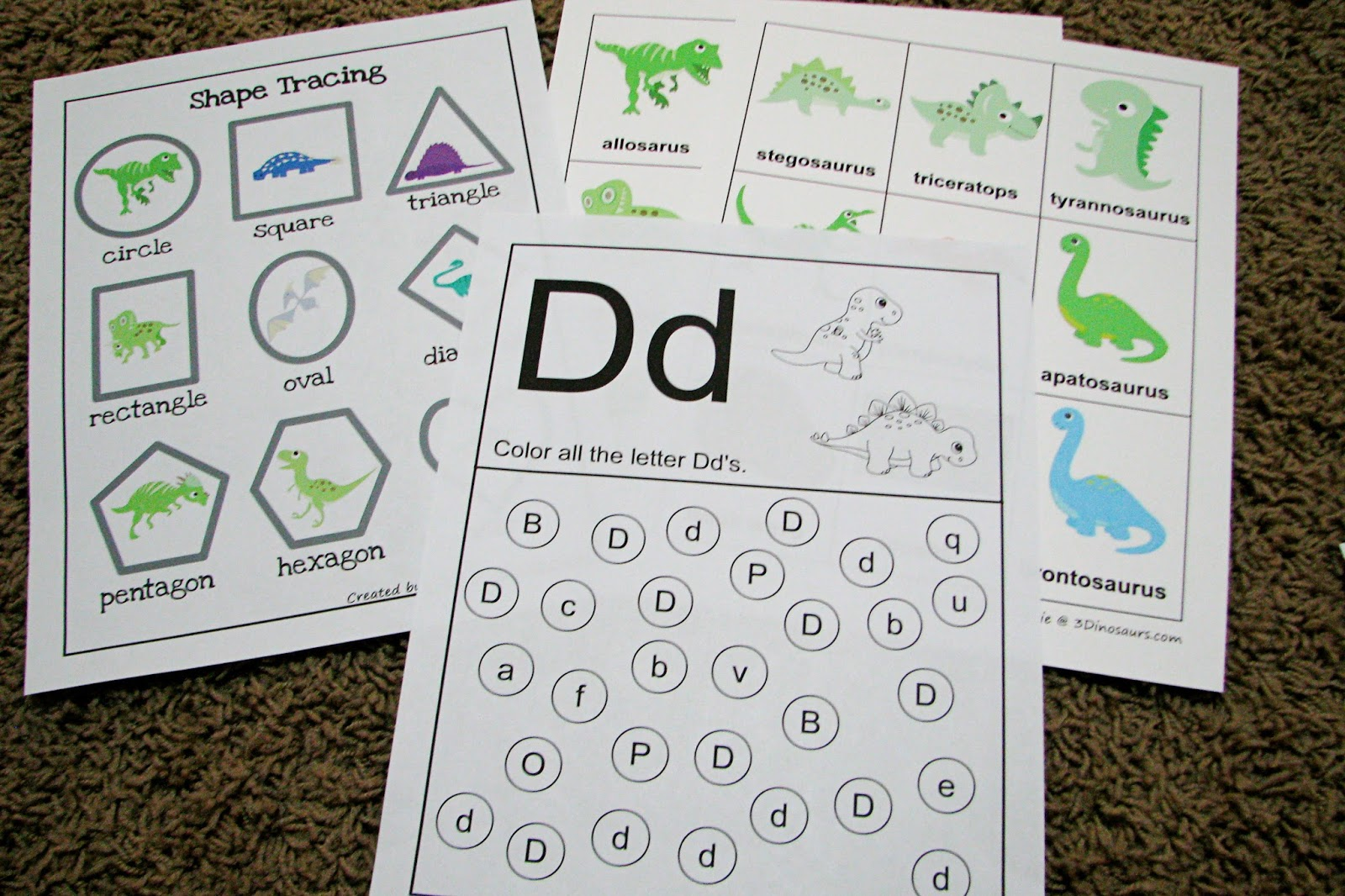Mommy S Little Helper Letter D Dinosaur Preschool Theme