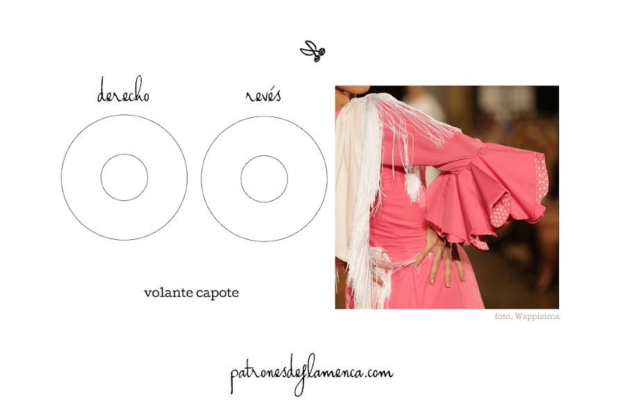 Patrón de volante de capote - patrones de flamenca