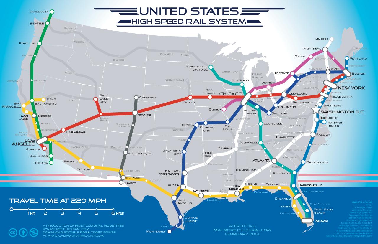 Michael Shays Hummingbirdminds Highspeed rail map envisions a 22