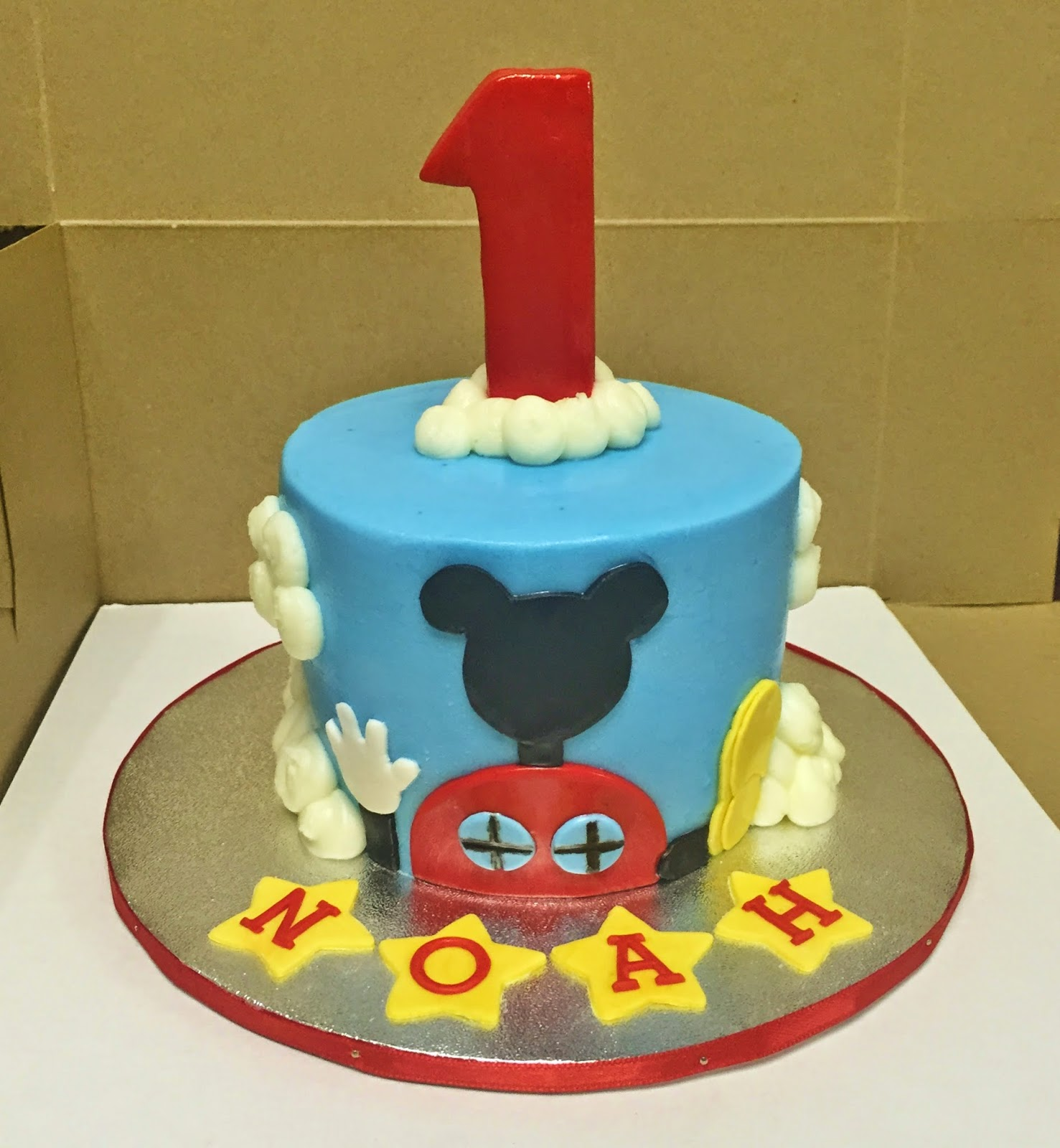 "Mickey Mouse Smash Cake: Cakes By Mindy: Mickey Mouse Clubhouse Cake 9"" X 13"" And"