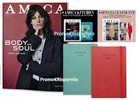 Logo ''Amica'': in edicola Special Pack  con Agenda Astrologica 2019, Amica Kitchen e Speciale Sfilate!
