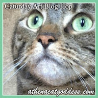 Athena's Caturday Art blog hop badge