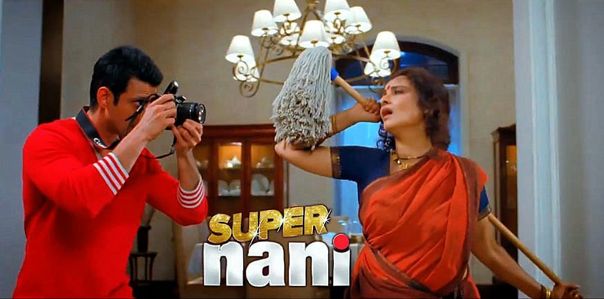 Sharman with camera to capture his Super Nani Rekha in movie still