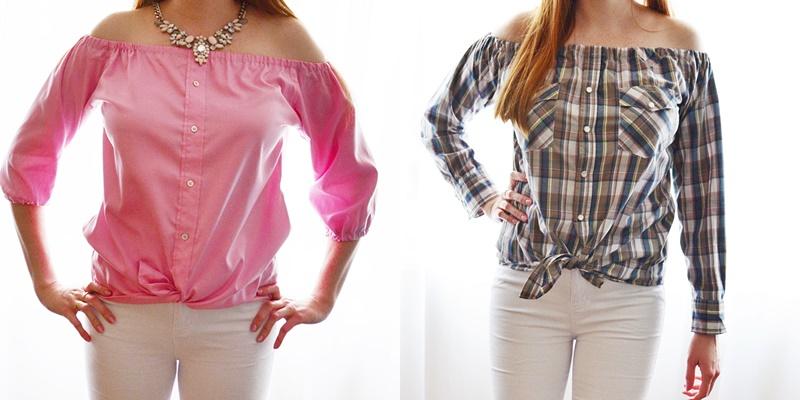 Przeróbka męskiej koszuli - Jak uszyć koszulę hiszpankę?