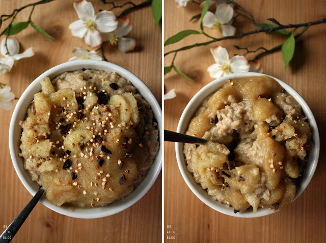 porridge, oatmeal, banana, breakfast, dessert, gluten-free, vegan, recipe