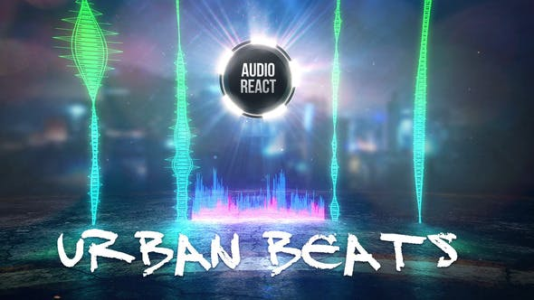 Urban Beats - Audio React | After Effects Project Files