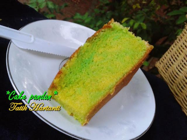 Resep Cake Pandan lembut beserta tips anti bantat.