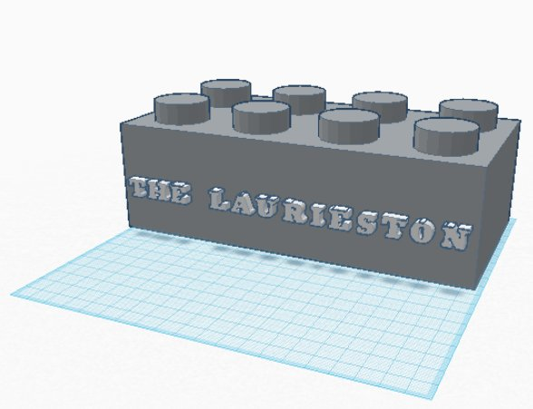Laurieston Sign STL lego