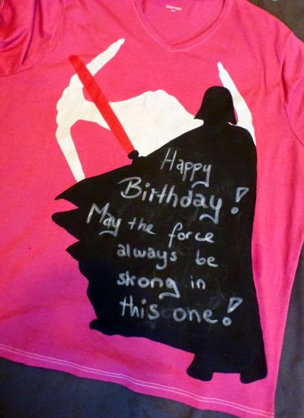 Darth Vader Shirt mit Spruch: Happy Birthday