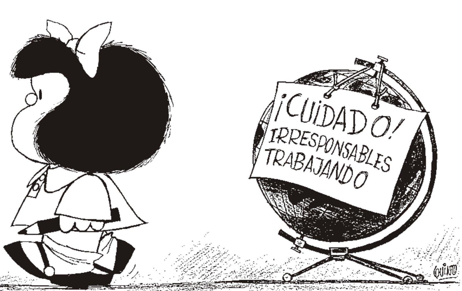 UNIVERSO DOS LEITORES: Mafalda em 10 tirinhas realistas e atuais!