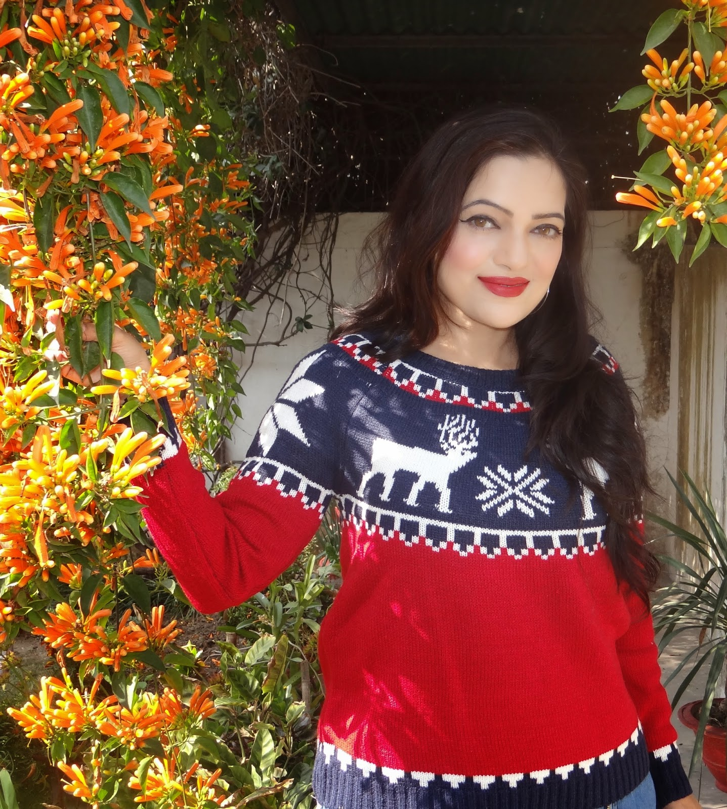 Christmas sweater from OASAP, ootd