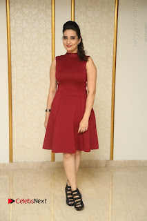 Telugu Tollywood Anchor Manjusha Pos in Red Short Dress  0168.JPG