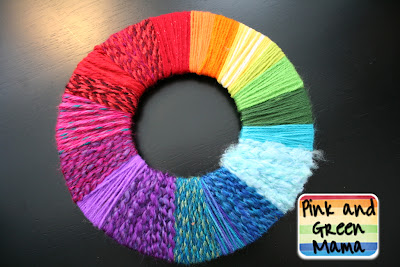 Make A Yarn Wrapped Color Wheel 2012