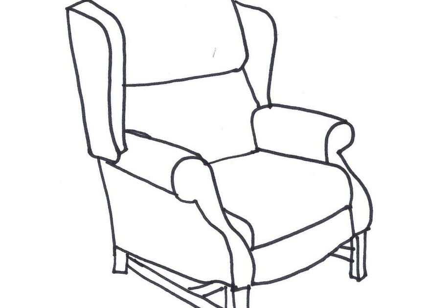 Northdixie Designs: Coloring a Wing Chair