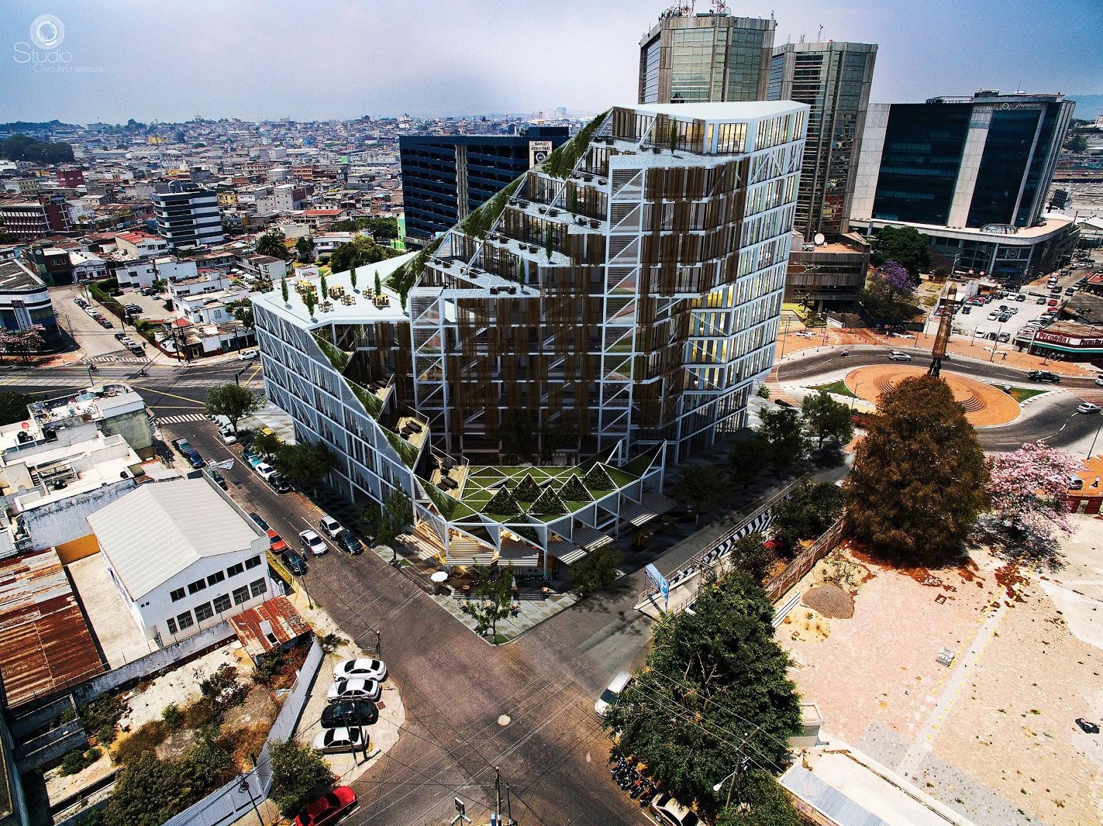 Edificio XPO1 en ciudad de Guatemala   [ Arte+ ]