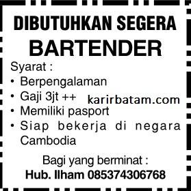 Lowongan Kerja Bartender