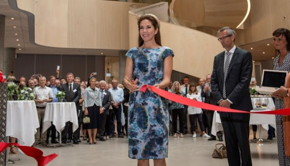 Crown Princess Mary of Denmark attend the opening of a new psychiatric hospital in Slagelse. The new hospial will be the most modern in Denmark