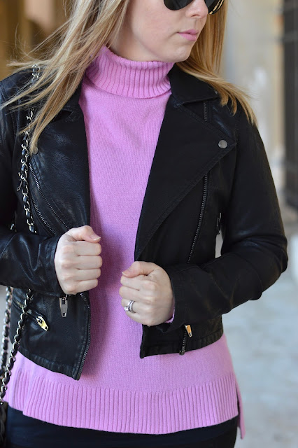 how-to-wear-faux-leather-jacket