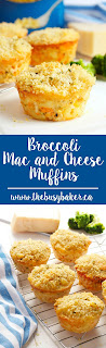 Broccoli Mac and Cheese Muffins www.thebusybaker.ca