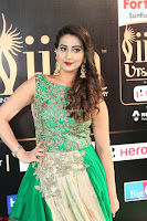 Manjusha in Beautiful Sleeveless Green Anarkali dress at IIFA Utsavam Awards 84.JPG