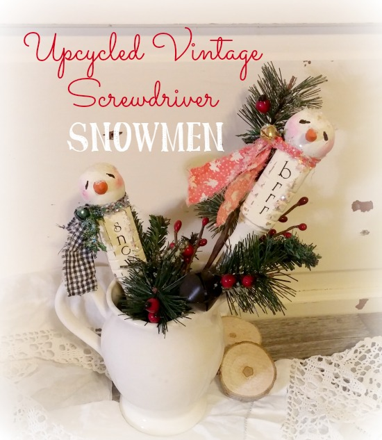 Turn old wooden screwdrivers into adorable snowmen!