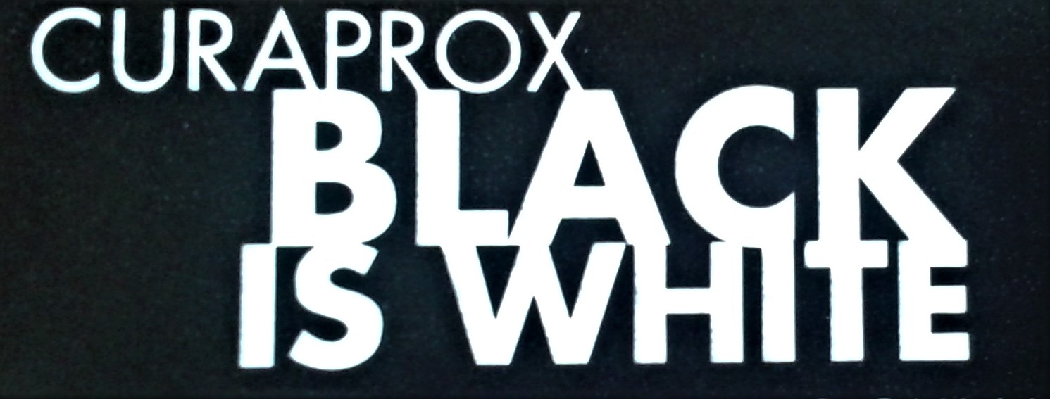 Curaprox Black is white banner